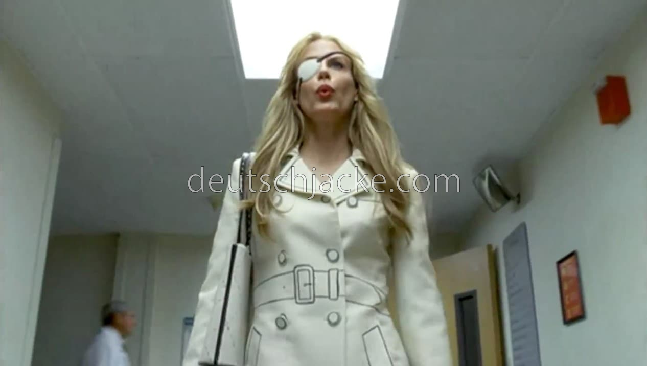 Daryl Hannah Kill Bill Elle Driver White Leather Jacket.
