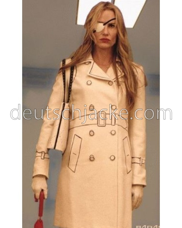 Daryl Hannah Kill Bill Elle Driver White Leather Jacket